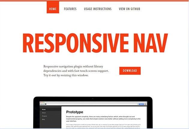 Responsive-Nav - 31+ Important Javascript Navigation Menu Libraries [year]