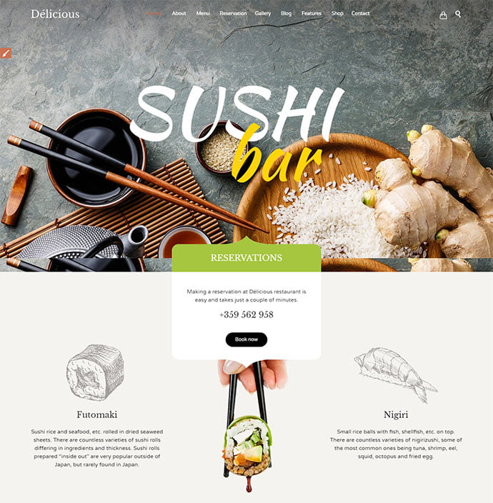 Restaurant-Cafe - 30+ Excellent E-commerce WordPress Themes For Food & Drink [year]