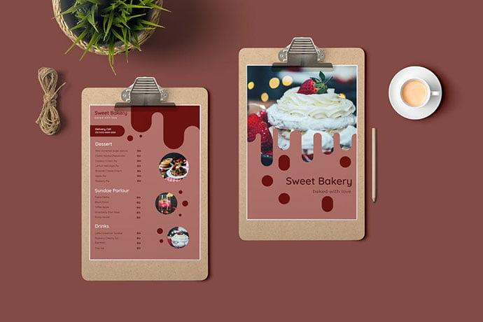 Restaurant-Menu-1 - 35+ NICE Cake and Bakery Menu Design [year]