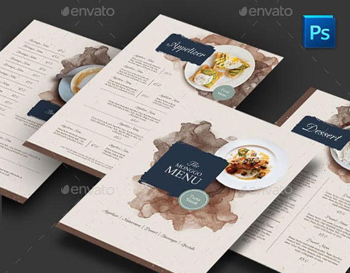 Restaurant-Menu - 35+ NICE Cake and Bakery Menu Design [year]