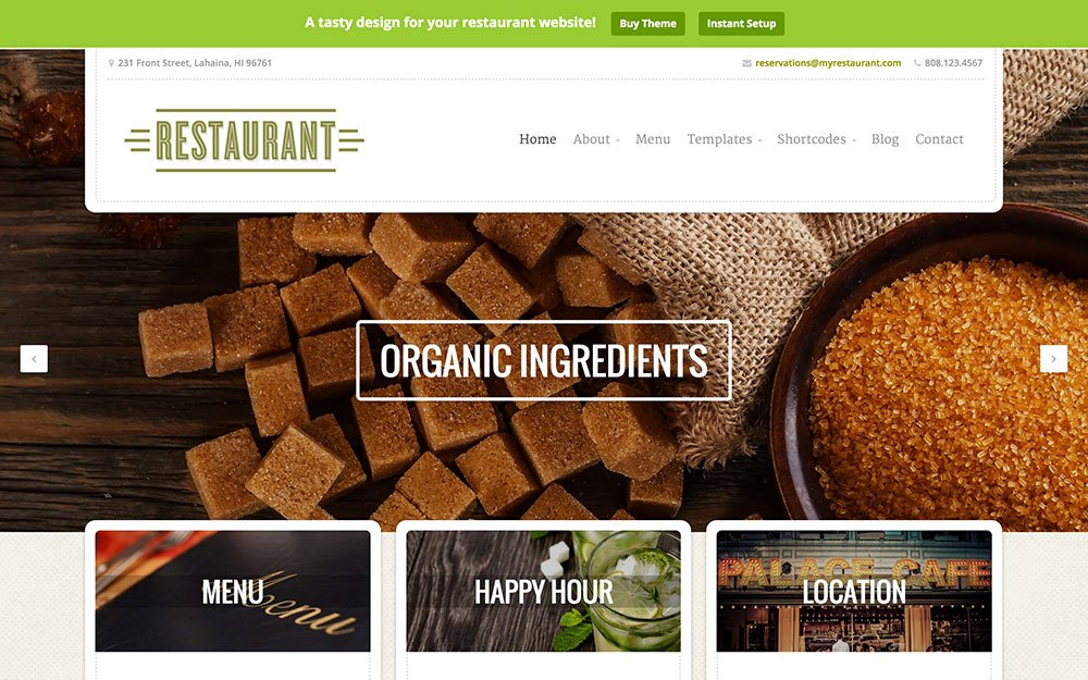 Restaurant - 51+ Best Restaurant WordPress Themes [year]