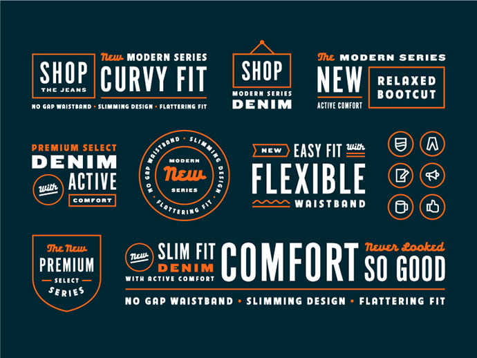 Retail-Leftovers-by-Greg-Anthony-Thomas - 50+ Fantastic BEST FREE Typographic Logo Badge Designs