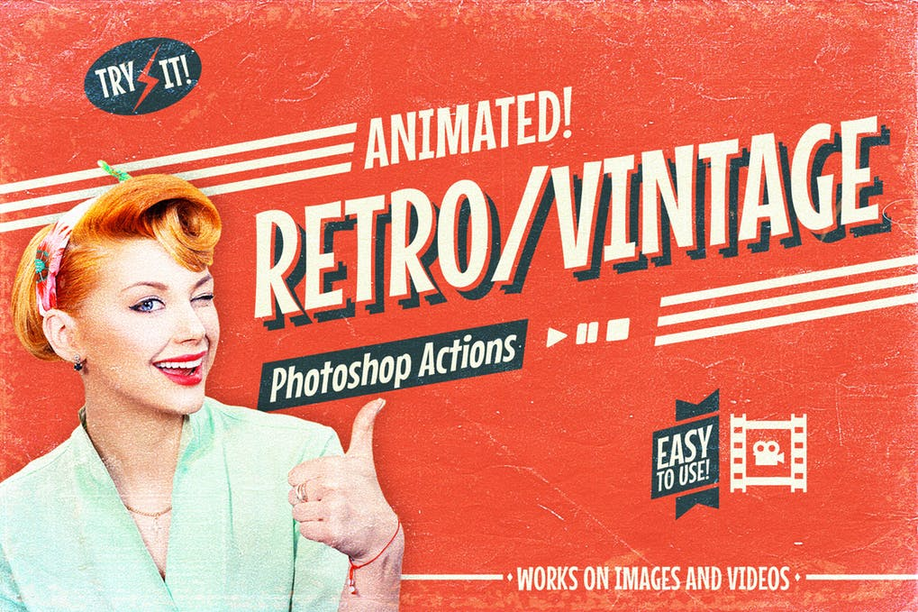 Retro-Vintage-1 - 35+ Awesome Animated GIF Photoshop Actions [year]