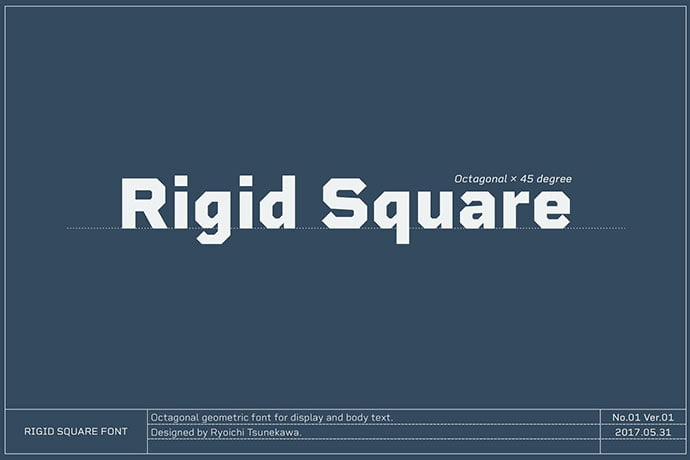 Rigid-Square - 30+ Awesome BEST Square based Geometric Fonts [year]