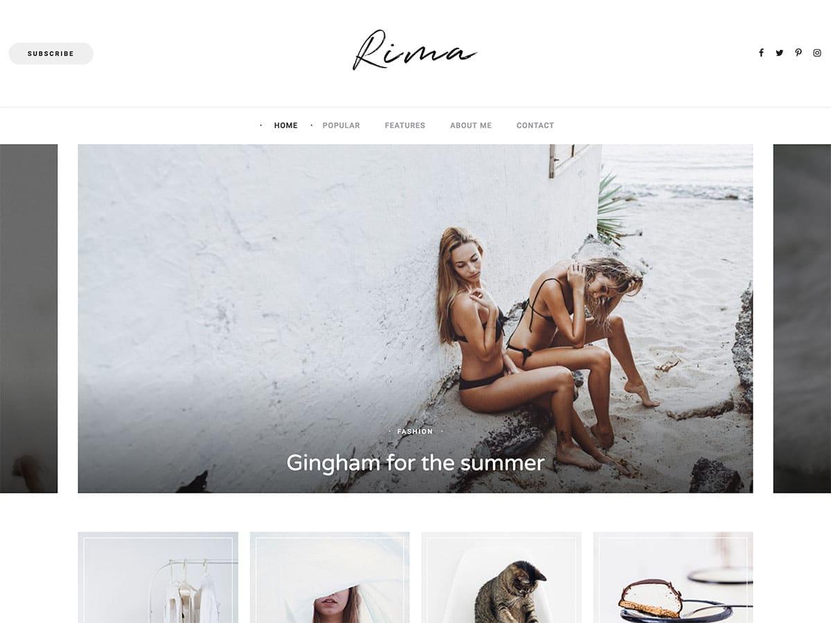 Rima - 25+ Awesome WordPress Themes For Feminine [year]