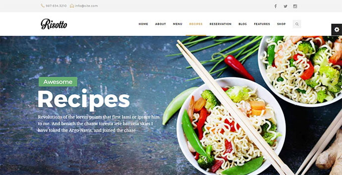 Risotto - 36+ Delicious Cooking Idea Share WordPress Themes [year]