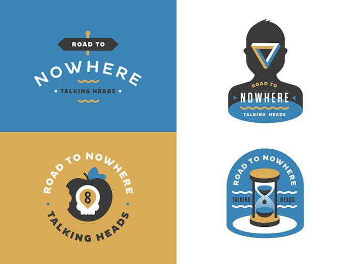 Road-to-Nowhere-badges-by-Daniel-Haire - 50+ Fantastic BEST FREE Typographic Logo Badge Designs