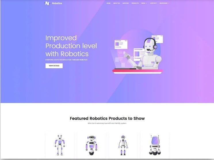 Robotics - 77+ Best Free HTML & CSS Clean Simple Website Templates [year]