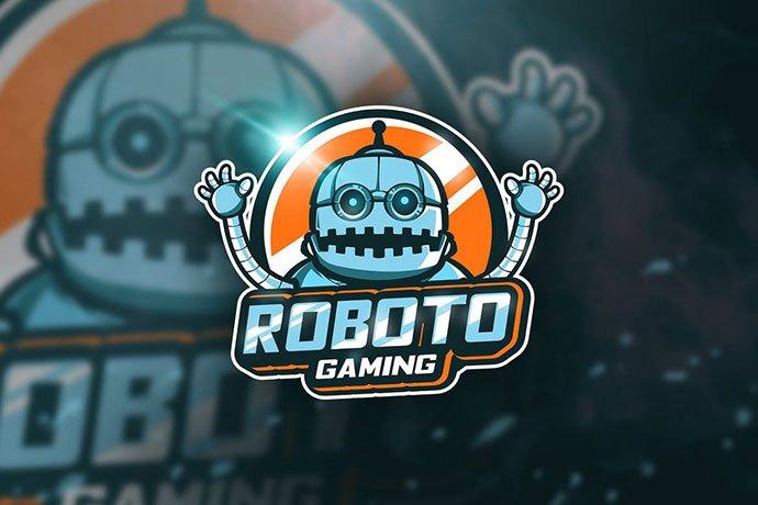 Roboto-Gaming - 60+ Personal & Team Branding AI & EPS eSports Logo Templates [year]