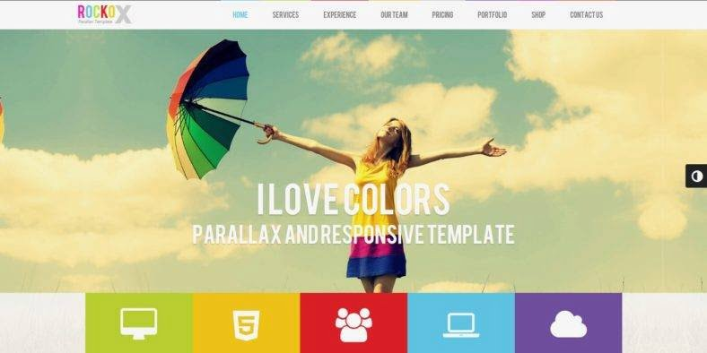 RockoX - 36+ Best One Page Modern and Creative HTML Templates [year]