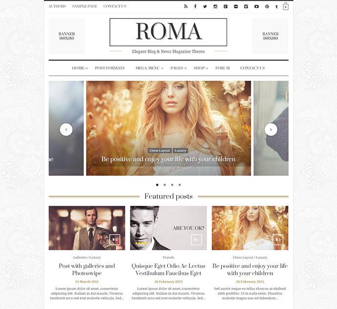 Roma - 45+ Magazine & Blog WordPress Themes To Make Your Website [year]