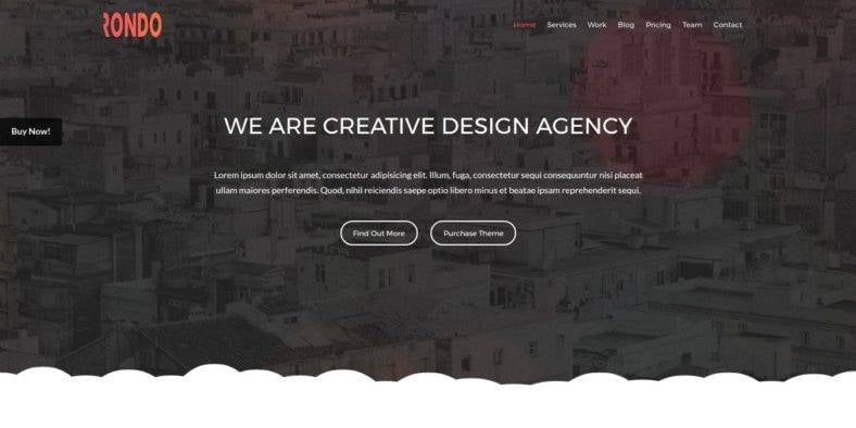 Rondo - 36+ Best One Page Modern and Creative HTML Templates [year]