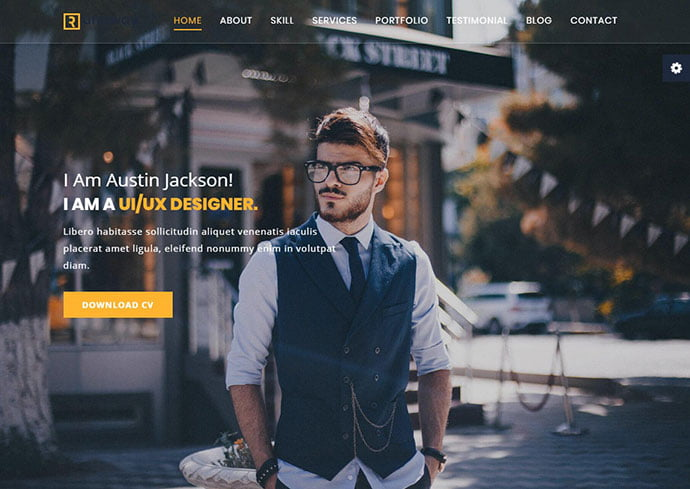Runaway - 35+ Awesome Twitter Bootstrap Portfolio Site Templates