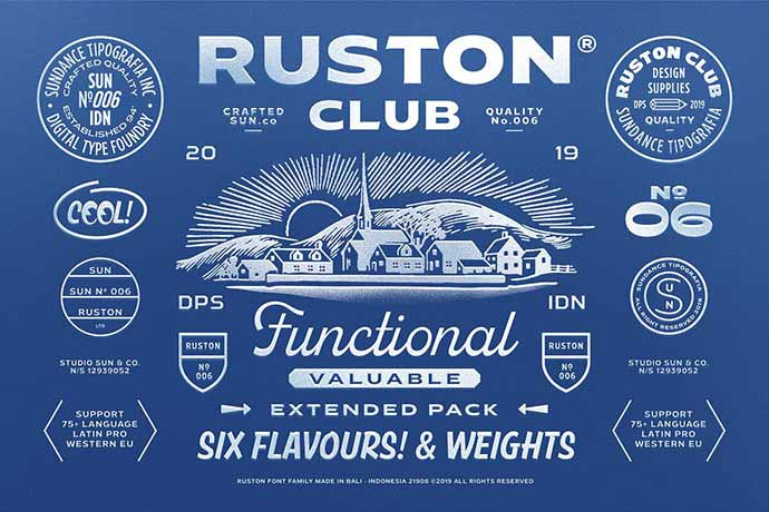 Ruston - 51+ Stunning Travel Theme Designs Fonts For Your Website [year]