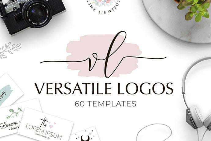SALE-Versatile - 35+ Lovely Watercolor Logo Designs [year]