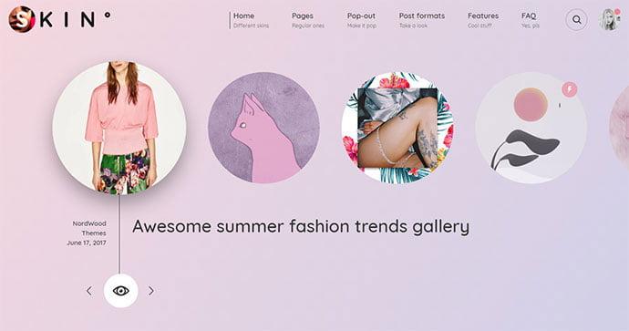SKIN - 31+ Impressive Big Fonts & Bright Colors WordPress Themes [year]