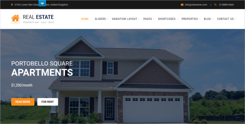 SKT-Real-Estate - 41+ Awesome Responsive HTML5 Web Templates [year]