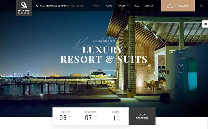Sailing-Hotel - 30+ Amazing Resorts & Hotels WordPress Themes [year]