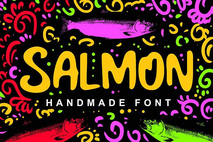 Salmon-Fancy-Font - 51+ Stunning Travel Theme Designs Fonts For Your Website [year]