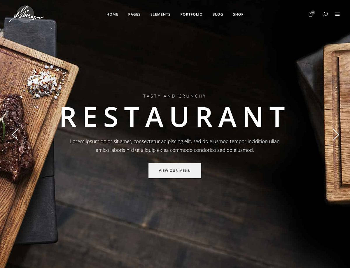 Savory - 51+ Best Restaurant WordPress Themes [year]