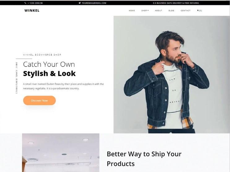 Screenshot_1-2 - 77+ Best Free HTML & CSS Clean Simple Website Templates [year]