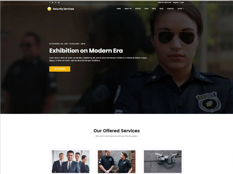 Security - 77+ Best Free HTML & CSS Clean Simple Website Templates [year]