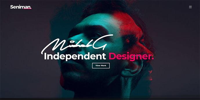Seniman - 30+ Stunning Typography Portfolio WordPress Themes