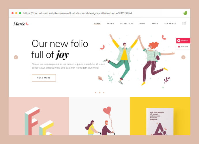 Showcasing-Illustrations-WordPress-Themes - 30+ Awesome Showcasing Illustrations WordPress Themes [year]
