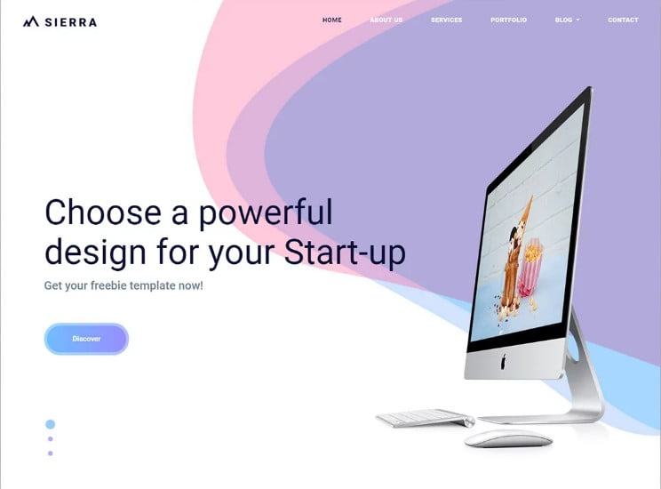 Sierra - 77+ Best Free HTML & CSS Clean Simple Website Templates [year]