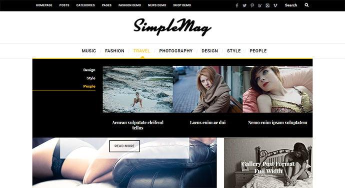 SimpleMag - 30+ Awesome Mega Menu Navigation WordPress Theme [year]