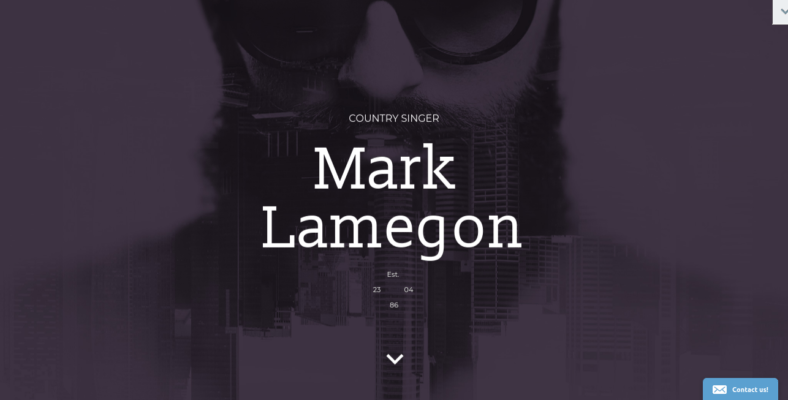 Singer - 41+ Awesome Parallax Landing Page Themes [year]