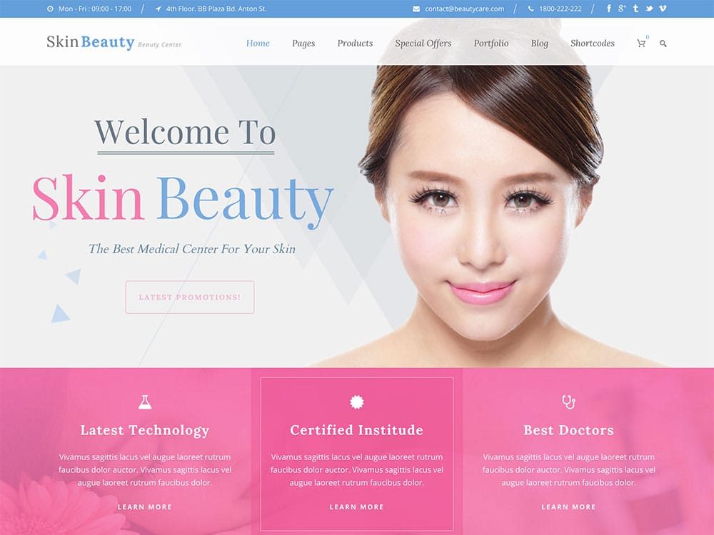 Skin-Beauty - 32+ Best WordPress Themes For Yoga [year]