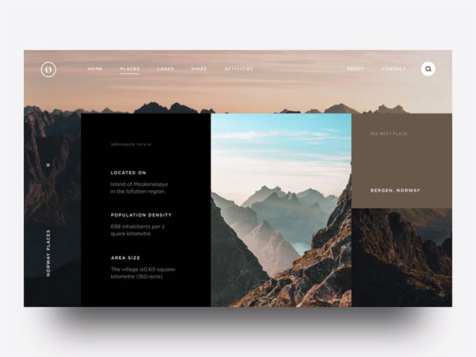 Slide-animation - 46+ Free Inspiration of Travel Web UI Designs [year]