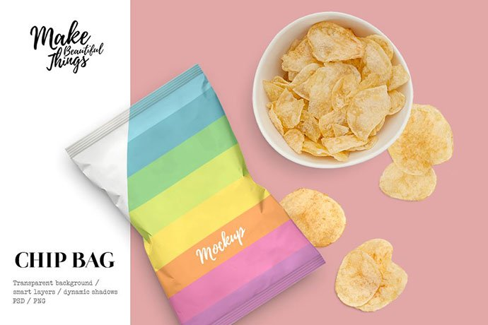 Snack-bag-mockup - 60+ Delicious Food Packaging PSD Mockup Design Templates [year]