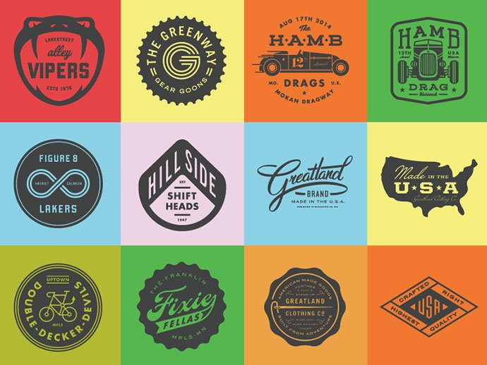So-Many-Badges-by-Allan-Peters - 50+ Fantastic BEST FREE Typographic Logo Badge Designs