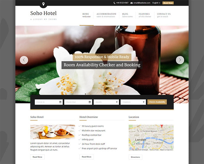 Soho-Hotel - 30+ Amazing Resorts & Hotels WordPress Themes [year]