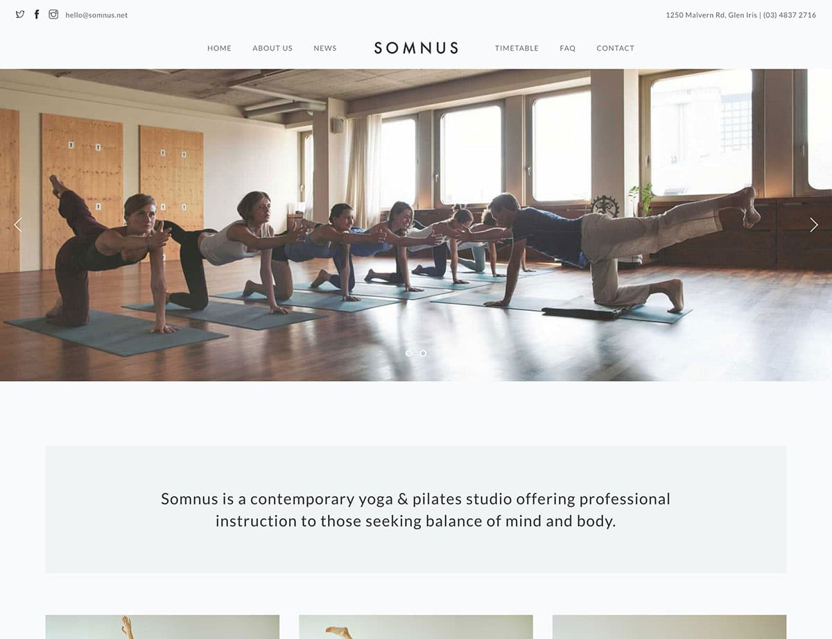 Somnus - 32+ Best WordPress Themes For Yoga [year]
