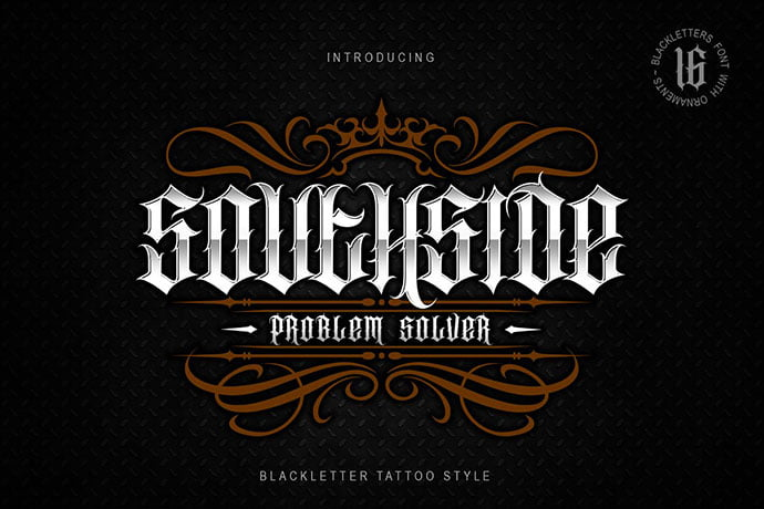 Southside - 30+ Marvelous Gothic Blackletter Fonts [year]