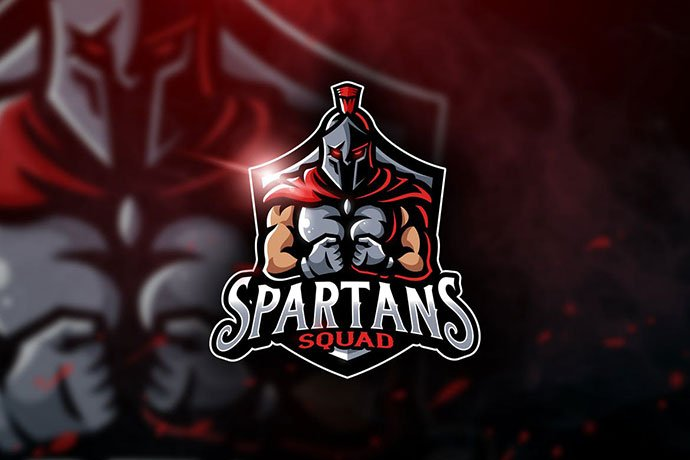 Spartans-Squad - 60+ Personal & Team Branding AI & EPS eSports Logo Templates [year]