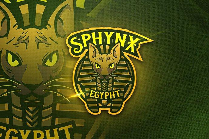 Sphynx-Egypht - 60+ Personal & Team Branding AI & EPS eSports Logo Templates [year]