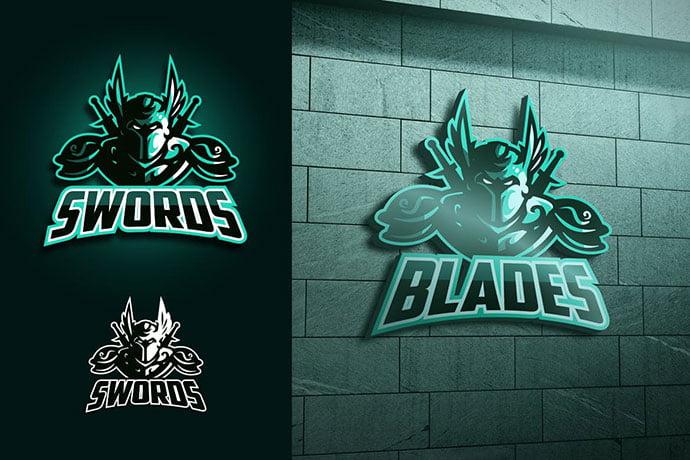 Spirit-Knight-Mascot-Esports-Logo - 60+ Personal & Team Branding AI & EPS eSports Logo Templates [year]