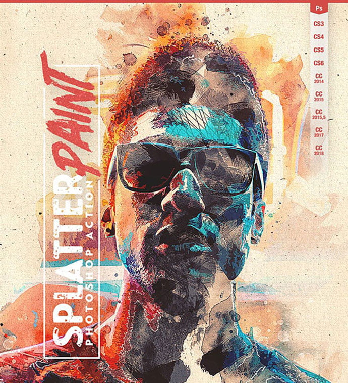 Splatter-Paint - 30+ Awesome Splatter Painting Effect Photoshop Actions [year]