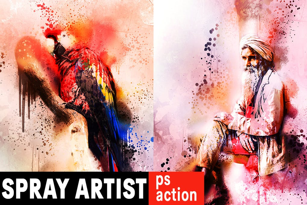 Spray-Artist - 30+ Awesome Splatter Painting Effect Photoshop Actions [year]