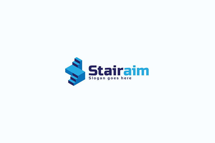 Stairs-Letter-S-Logo - 50+ BEST Single Letter Business Logo Template [year]
