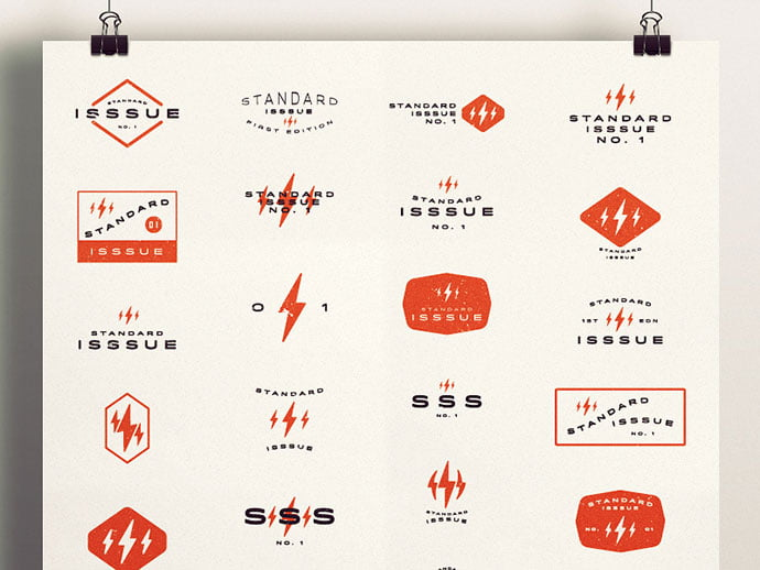 Standard-Isssue-No.1-by-Adam-Trageser - 50+ Fantastic BEST FREE Typographic Logo Badge Designs