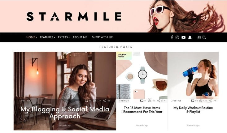 StarMile - 31+ Top WordPress Themes For Best Adsense Optimized [year]