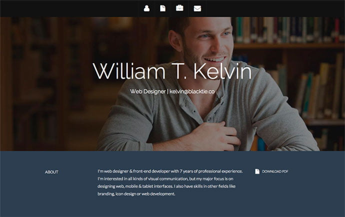 Startbootstrap-1 - 41+ Free HTML PSD & InDesign CV Resume Templates [year]