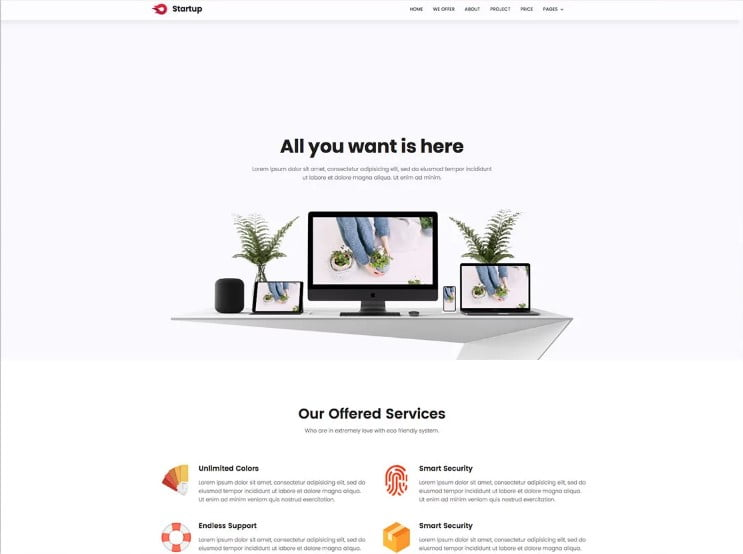 Startup - 77+ Best Free HTML & CSS Clean Simple Website Templates [year]