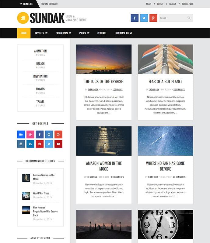 Sundak - 45+ Magazine & Blog WordPress Themes To Make Your Website [year]