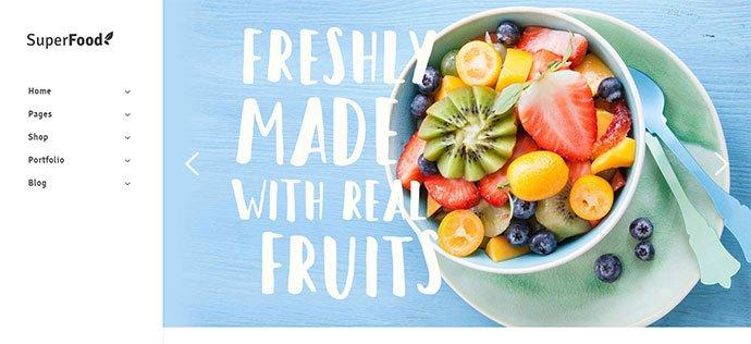 Superfood-1 - 31+ Impressive Big Fonts & Bright Colors WordPress Themes [year]